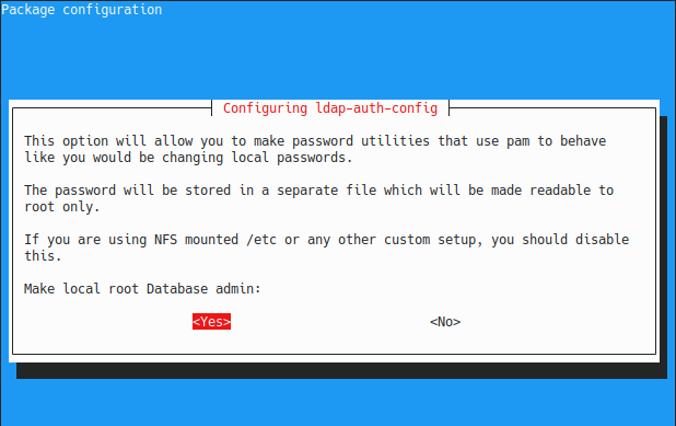 make local root admin on ldap