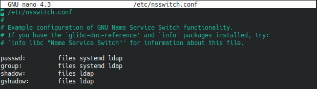 nsswitch file ldap