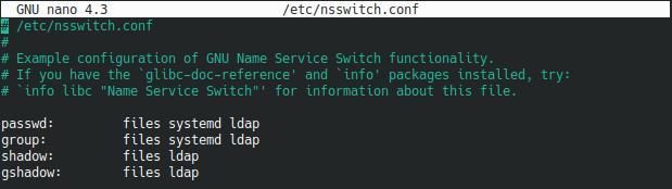 nsswitch file ldap