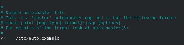 direct map autofs