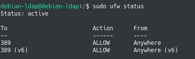 allow ldap in firewall rules