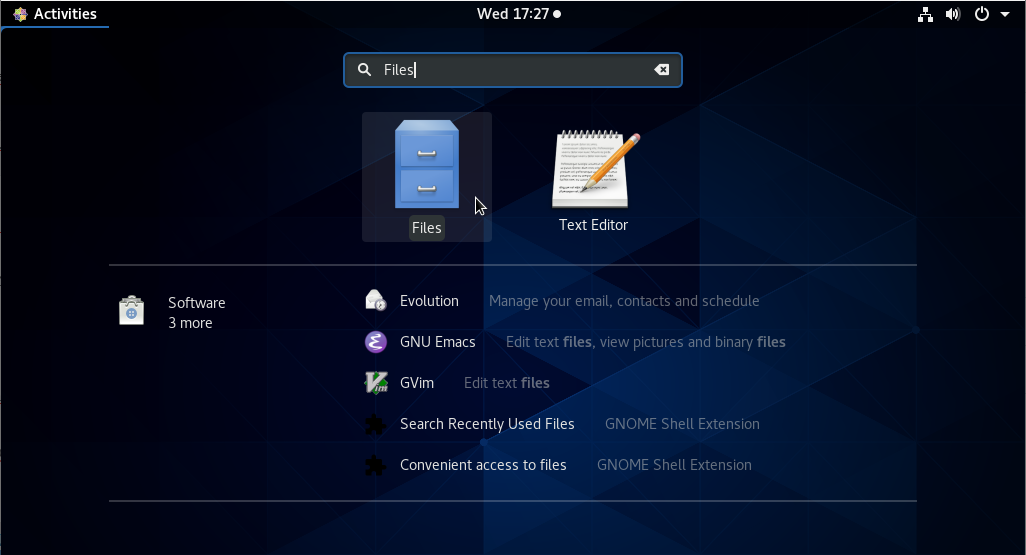 Files file manager on GNOME