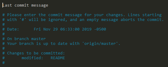 amending commit message using git commit command