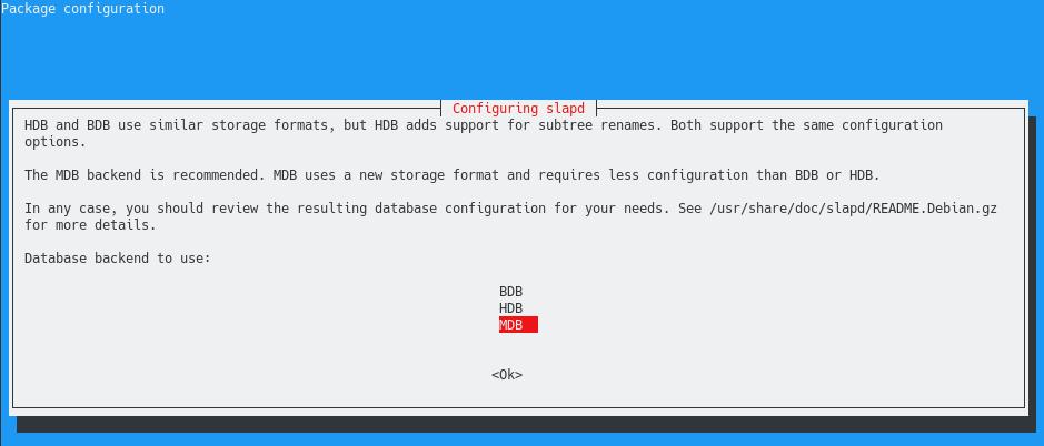 choosing backend database for openldap