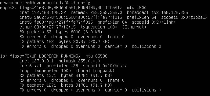 verifying ip address on linux