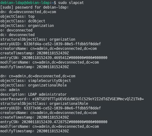 display openldap initial settings