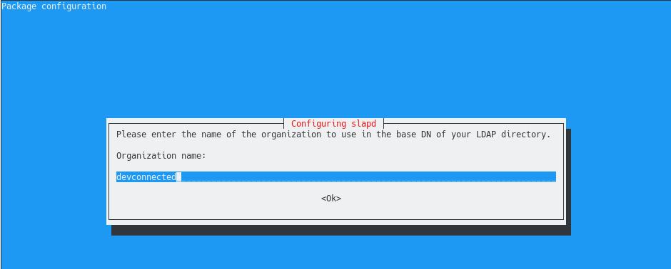 organization name in openldap