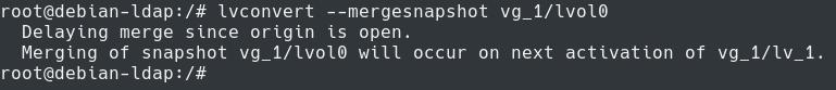 merging snapshot using lvconvert