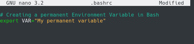 bashrc environment variable bash
