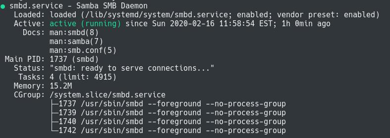 samba server running