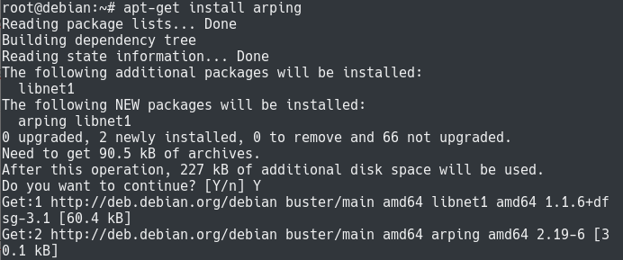 arping install command