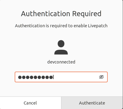 ubuntu authentication required