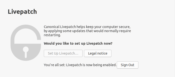 livepatch enabled