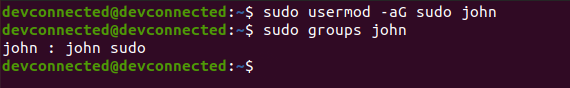 add user sudo