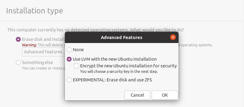 use lvm with ubuntu