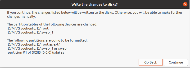 write changes to disks