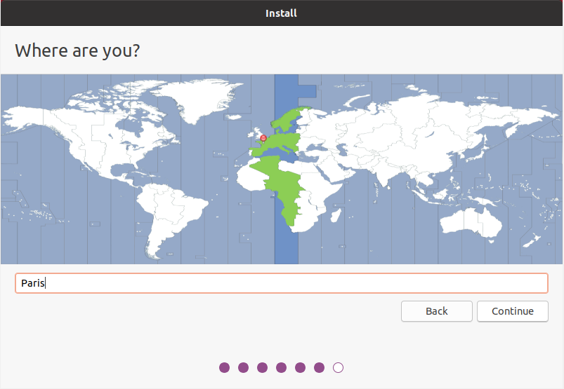 choose location on ubuntu