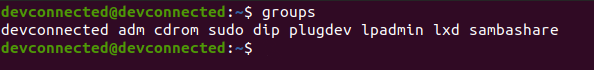 listing groups on linux