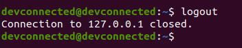 logout ssh ubuntu 20.04