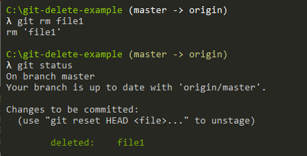 delete file from git example