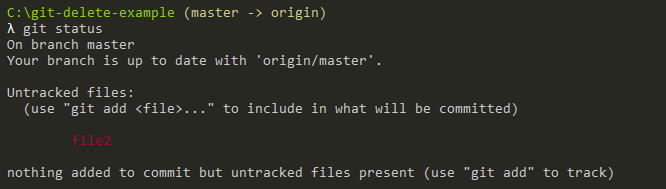 git status untracked files