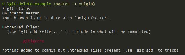 adding gitignore file to repository