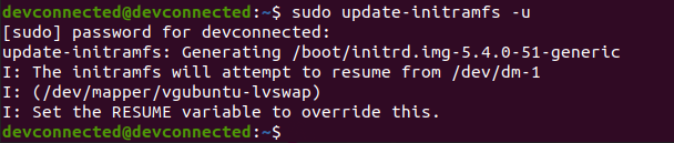 update-initramfs command