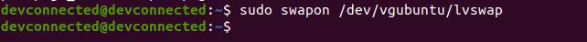 swapon command