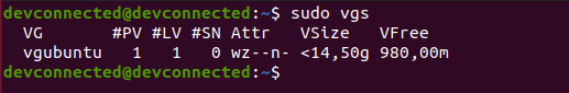 vgs command