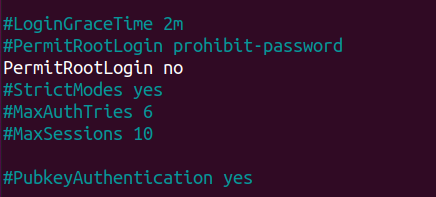 disable root ssh password