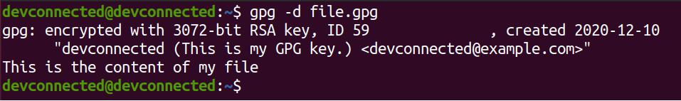 decrypt file using key