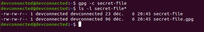 encrypt file using gpg