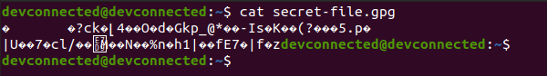 encrypted content on linux