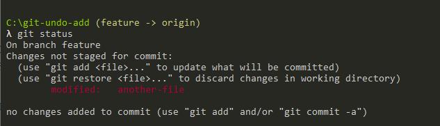 git restore working directory