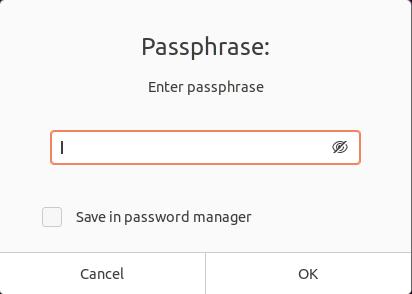 passphrase protect file