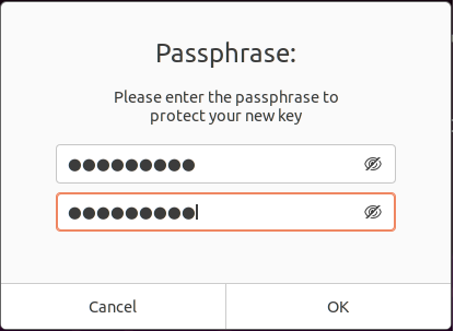 using a passphrase with key encryption