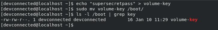 create luks key
