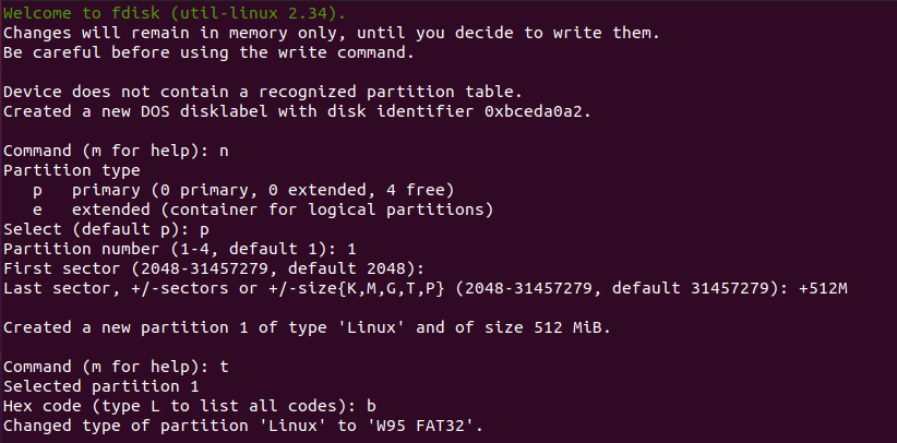 creating efi partition linux