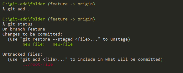 add specific folder git