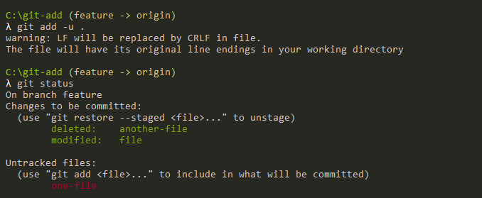 git status command on directory