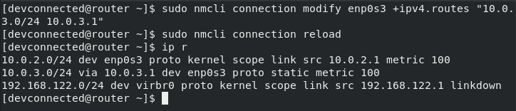 linux add route nmcli