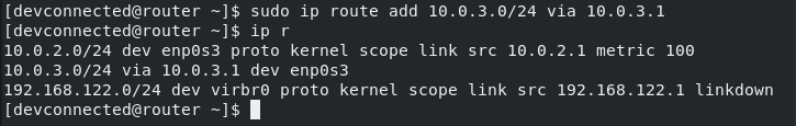 add route on linux