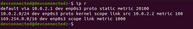 ip route linux