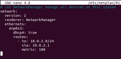 netplan configuration file