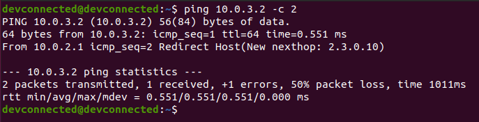 ping command on linux