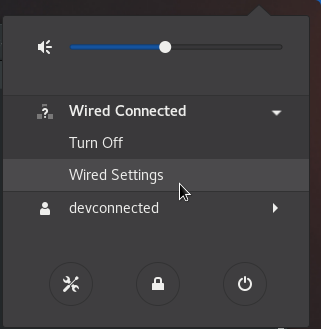 wired settings linux