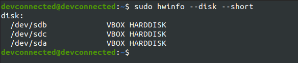 listing drives using hwinfo